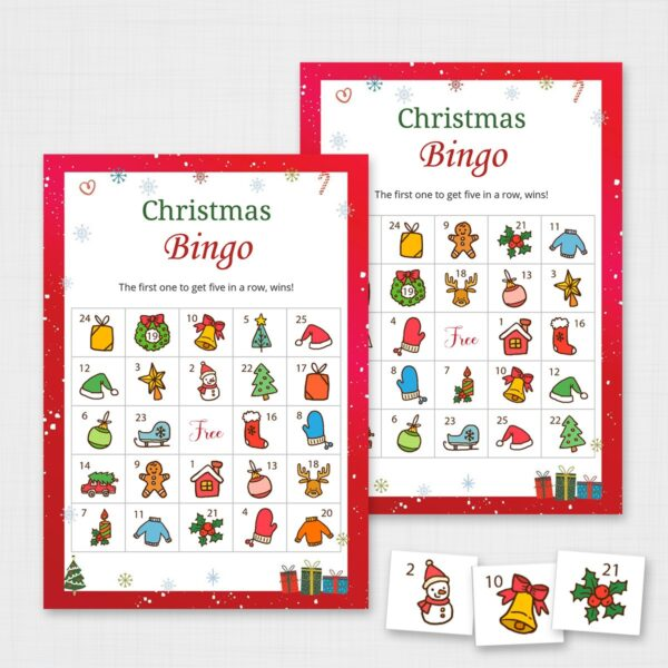 Printable Christmas Bingo Game for Kids