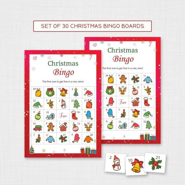 Christmas Bingo Game for Kids Printable | Fun Christmas Activities for Kids