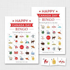 Canada Day Bingo for Kids