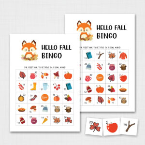 Printable Fall Bingo