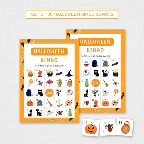 Halloween Bingo Game for Kids Printable