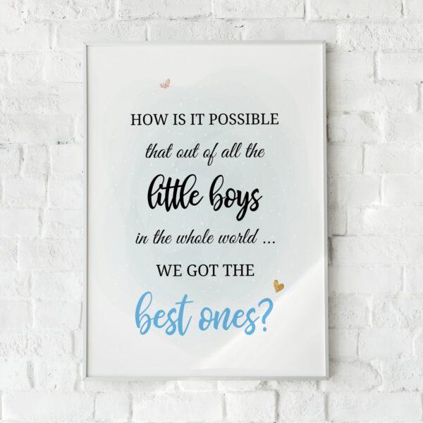 Printable Wall Art for Little Boys Nursery Decor