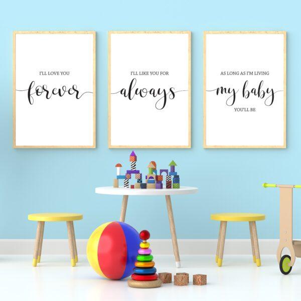 Nursery Wall Art for Baby Nursery Decor