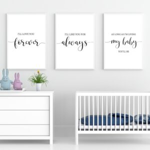 I'll Love you Forever Nursery Wall Art