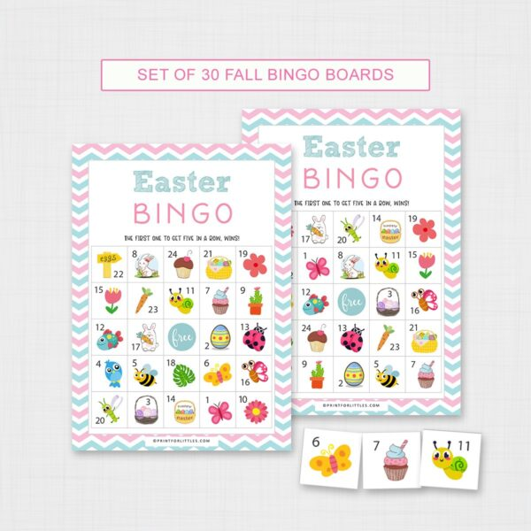 Easter Bingo Game for Kids Printable | Easter Activities for Kids