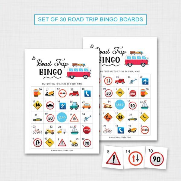 Road Trip Bingo Game for Kids Printable