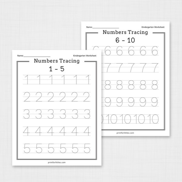 Numbers Tracing Worksheets