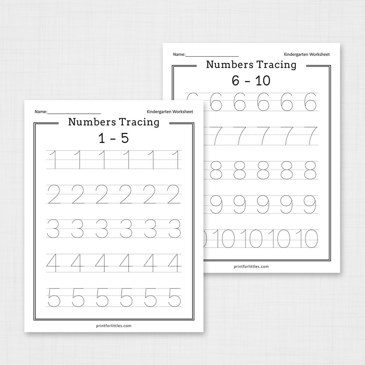 Numbers 5-5 Tracing Worksheets  Free Printable Worksheets