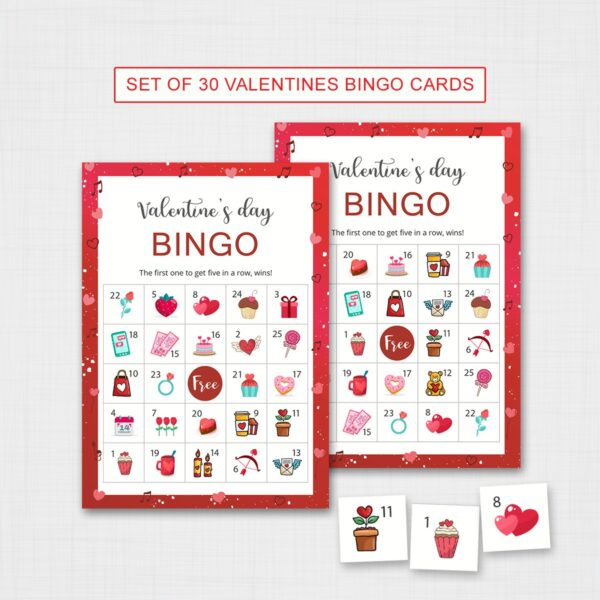 Valentines Bingo Game for Kids Printable | Fun Valentines Activities for Kids