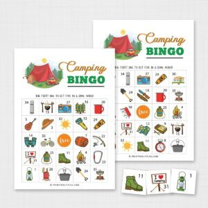 Camping Bingo – Fun Outdoor Activity for Kids
