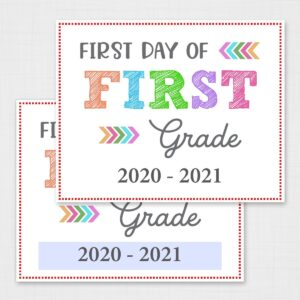 Editable First Day of School Signs – Colorful