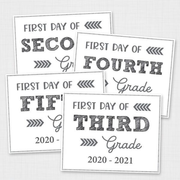 Editable Free Printable Back to School Signs
