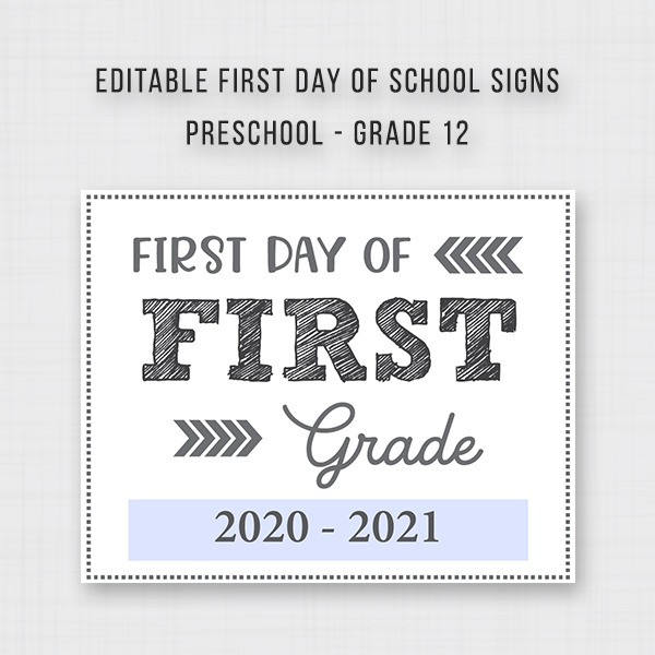 First Day of Back to School Signs