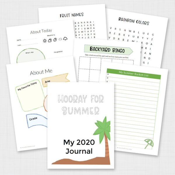 Printable Summer Journal for Kids