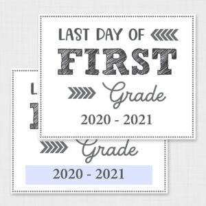 Last Day of School Signs Free Printable