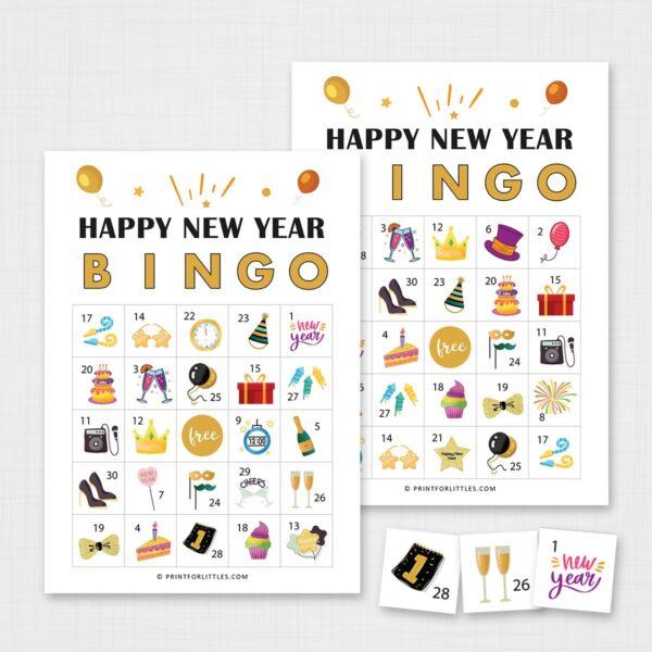 New Year Bingo Printable Cards
