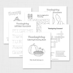 Thanksgiving Coloring and Activity Book