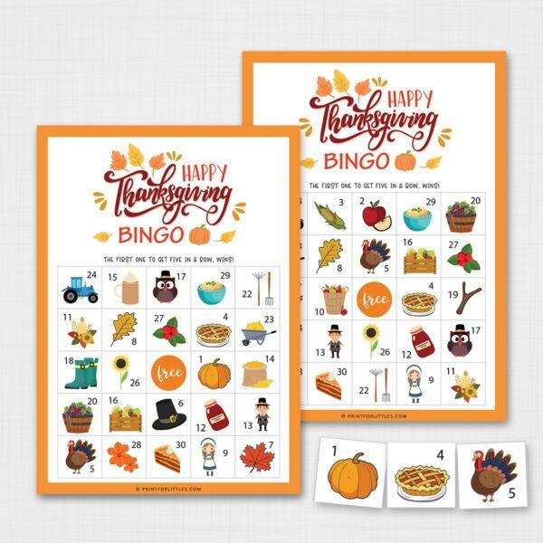 Printable Thanksgiving Bingo Game