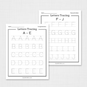 Letters Tracing A-Z Worksheets