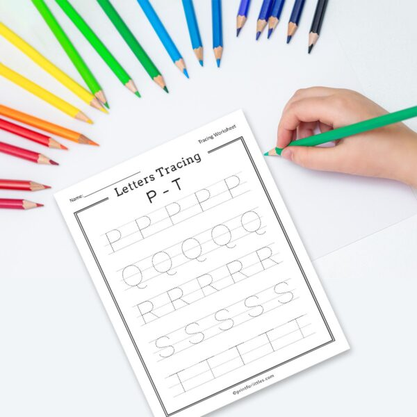A-Z Letters Tracing Worksheets Printable