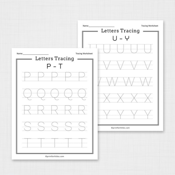 Printable Letters Tracing Worksheets