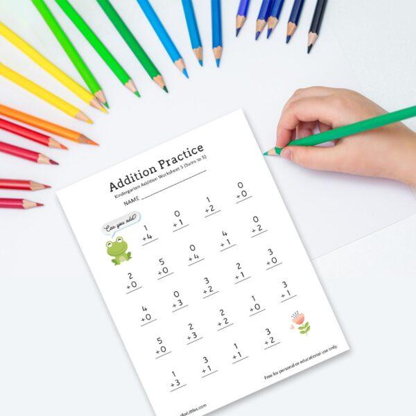 Printable Addition Worksheets for Kindergarten