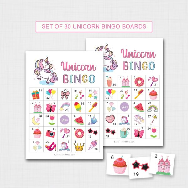 Printable Unocorn Bingo
