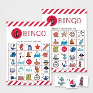 Nautical Bingo Printable