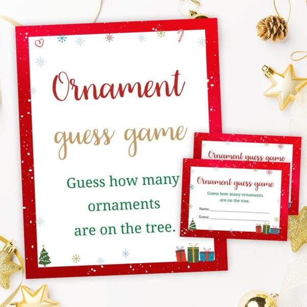 Christmas Ornaments Guessing Game