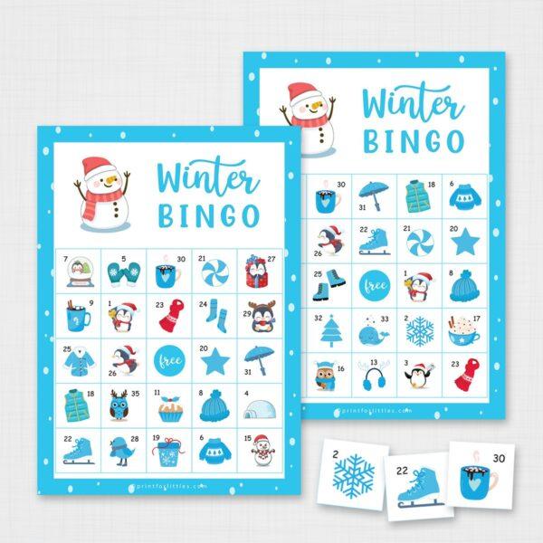 Winter Bingo Game Printable
