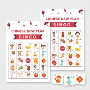 Printable Chinese New Year Bingo