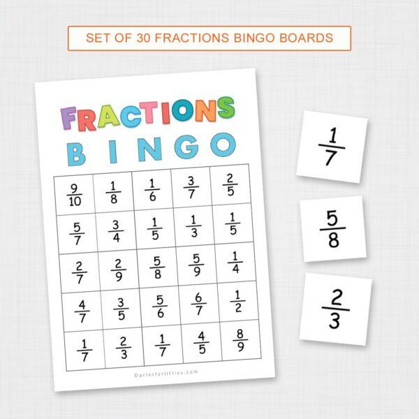 Printable Simplifying Fractions Bingo
