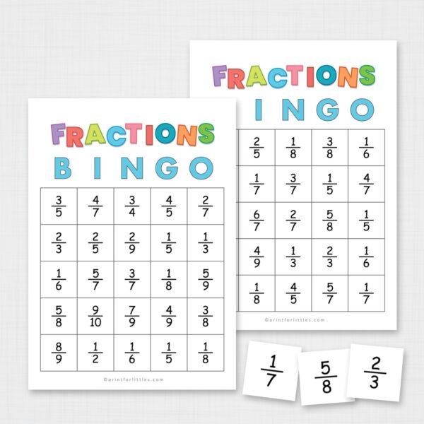 Simplifying Fractions Bingo Printable