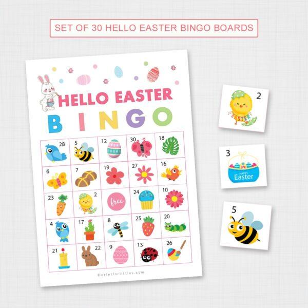 Hello Easter Bingo for Kids