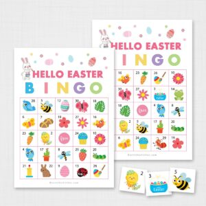 Printable Hello Easter Bingo for Kids