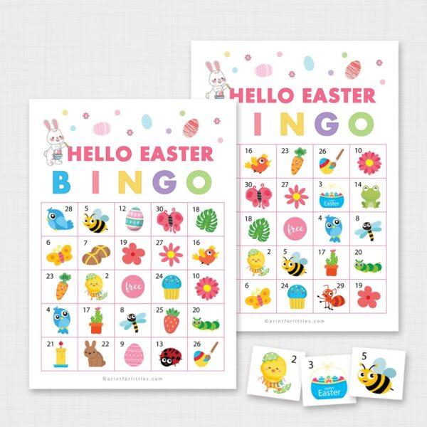 Printable Easter Bingo Game for Kids