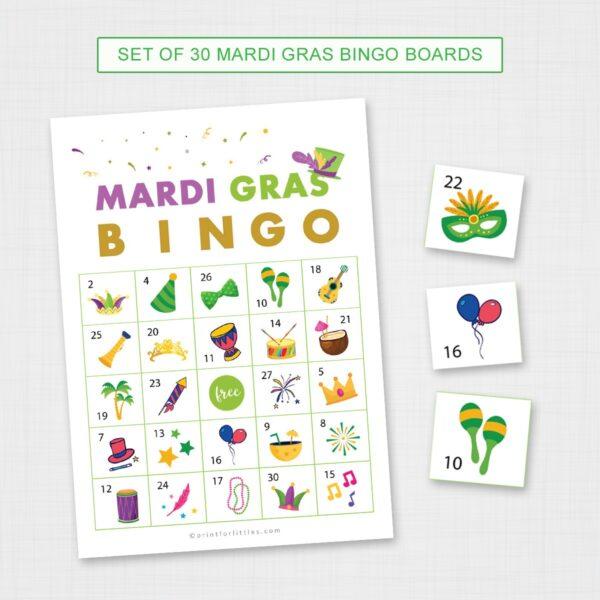 Mardi Gras Party Celebration Game Printable