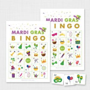 Printable Mardi Gras Bingo