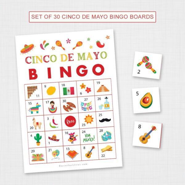 Cinco De Mayo Bingo Printable Game Cards