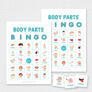 Printable Body Parts Bingo