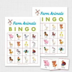 Printable Farm Animals Bingo