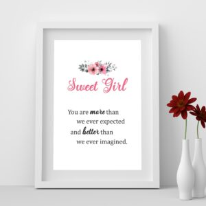 Sweet Girl You Are More than We Ever Expected Wall Art