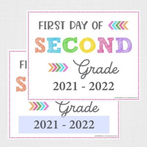 Editable First Day of Second Grade Signs
