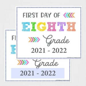 First Day of Eighth Grade Signs (Editable)